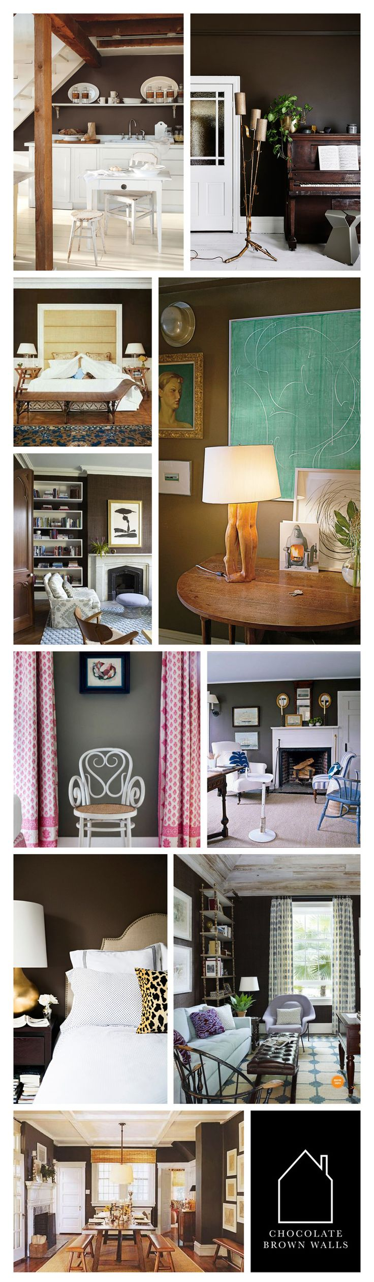chocolate brown walls | THE PLACE HOME