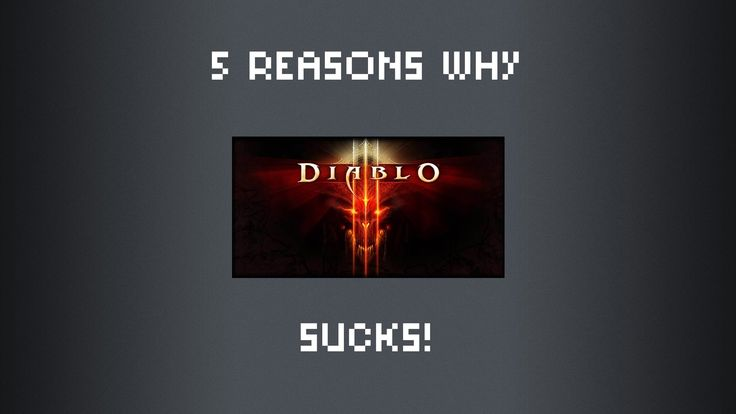 Since an expansion to Diablo 3 has been announced I point out a few obvious problems in Diablo 3 and think about why the first two games were more fun. Diabl...