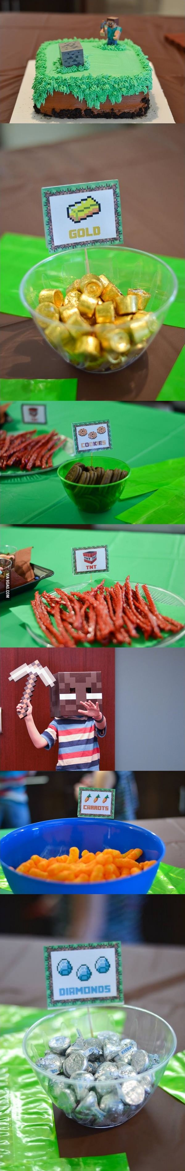 Minecraft themed Birthday Party for a 10 years old
