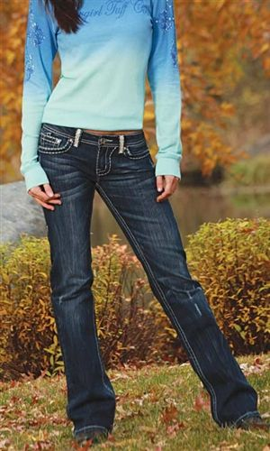 Cowgirl Tuff Dark Wash Glamour Western Jeans -- Are you Cowgirl Tuff? | southtexastack.com