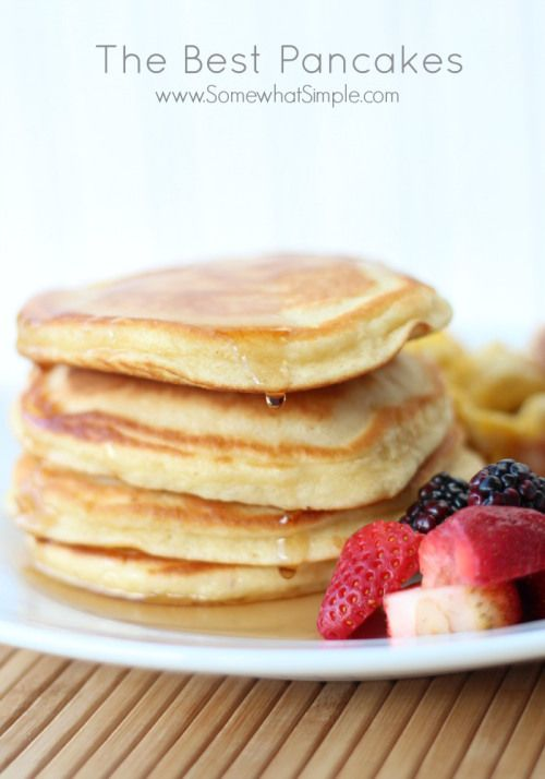 the best pancakes recipe! The whole family will love this breakfast idea.