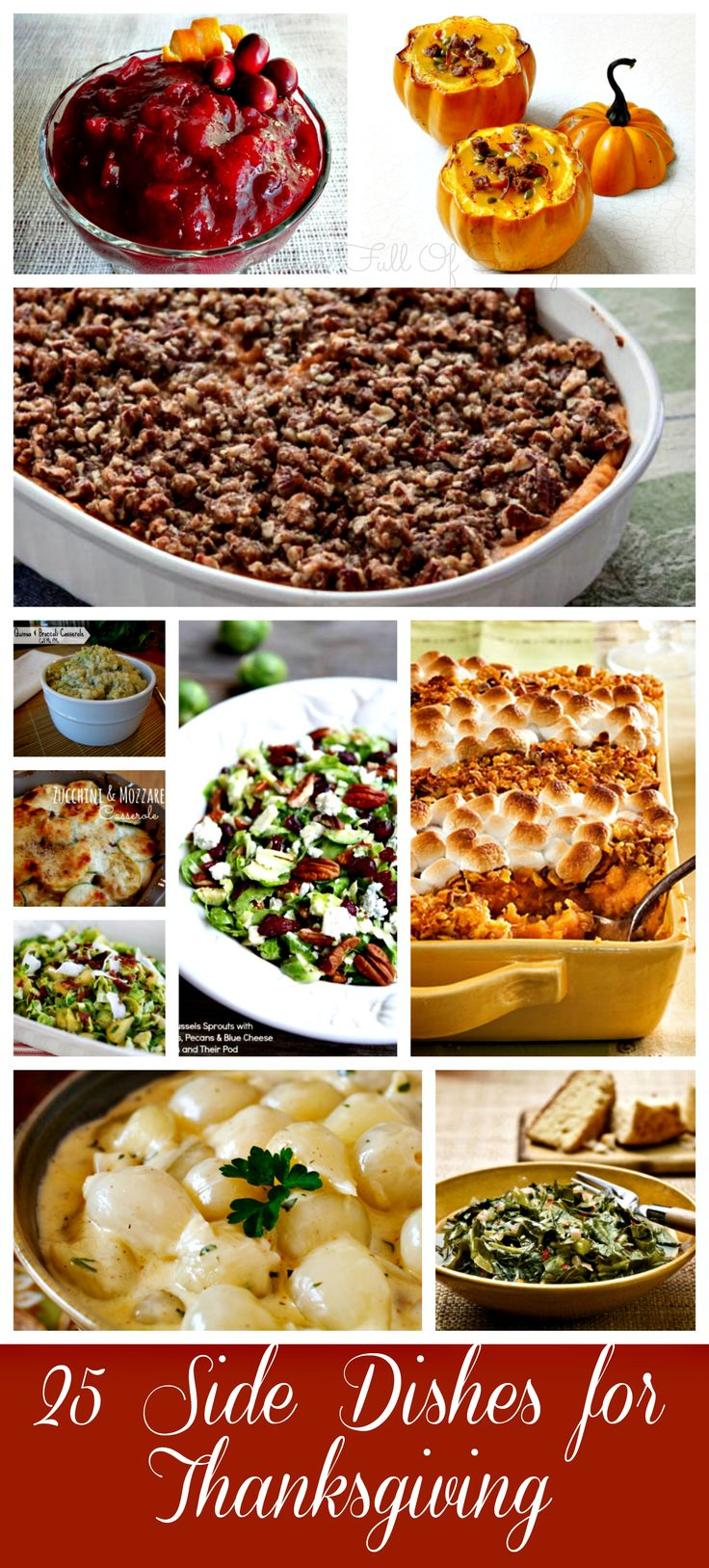 25 side dishes for thanksgiving- get new ideas this year-- Check out some of the best recipes across the Web. Find the perfect side dish for Thanksgiving.