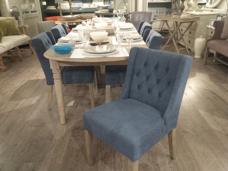Smart and comfortable blue dining chairs