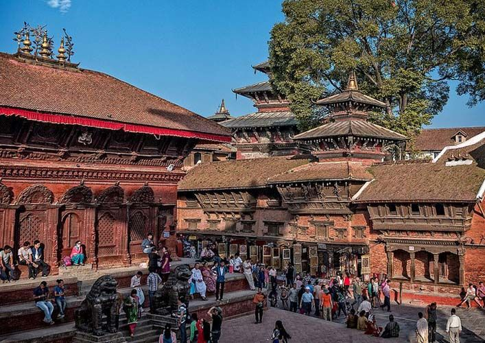 Kathmandu Durbar Square is a lively place mixed with locals and tourists