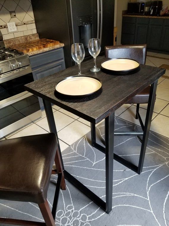 Charred Oak High Top Dining Table