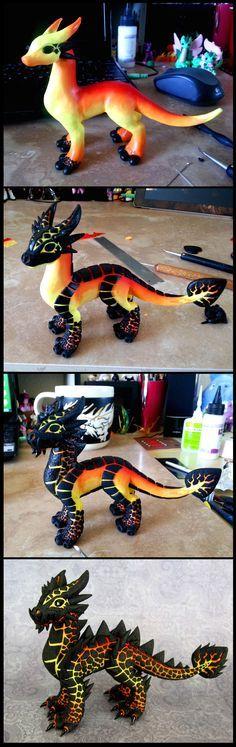 dragon de lava. juajuajua