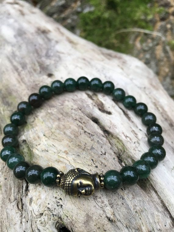 Aventurine Wrist Mala Bracelet with Shakyamuni Guru Bead