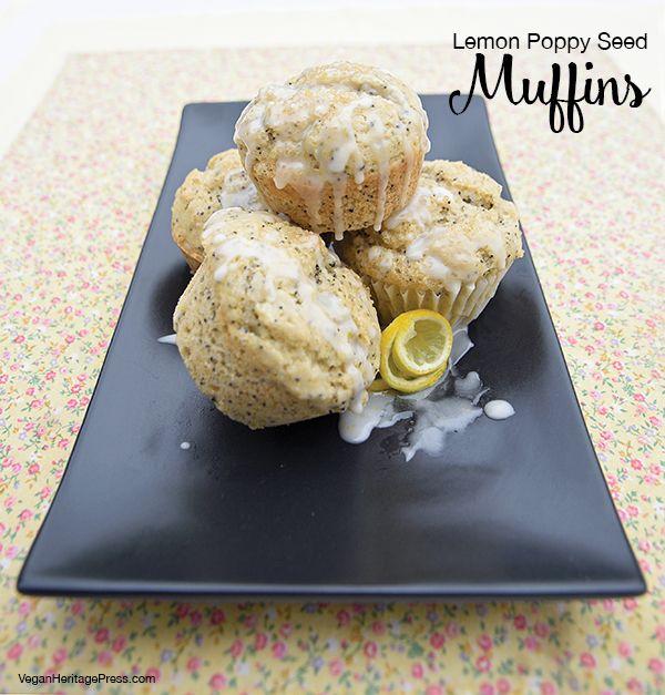 Vegan Lemon Poppy Seed Muffins from Aquafaba by Zsu Dever