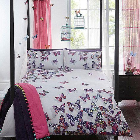 Butterfly Home by Matthew Williamson White  Painted Butterflies  bedding set    Debenhams. The 25  best Butterfly bedding set ideas on Pinterest   Little
