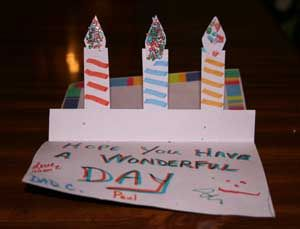 Pop Up Candle Card