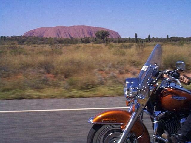 Touring Via Ayres Rock, Australia