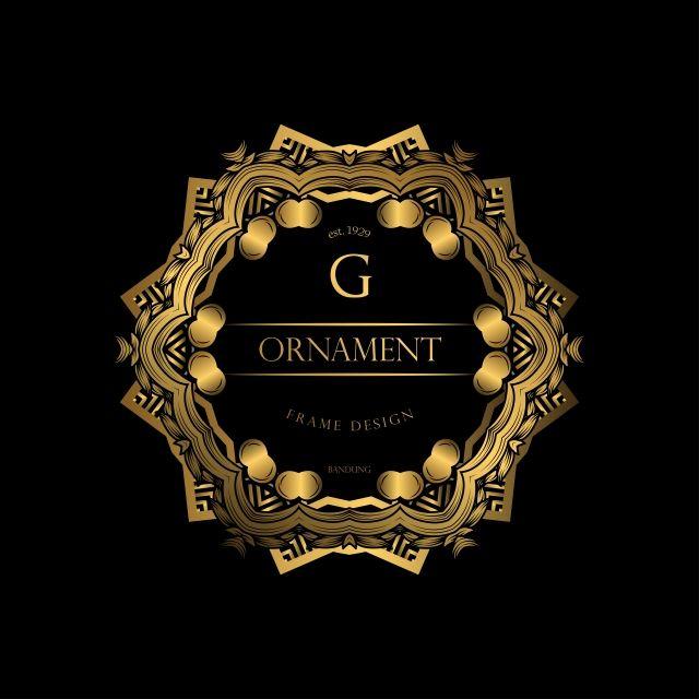 الإطار الفاخرة مع اللون الذهبي فخم ترف ملكي شعار Png والمتجهات للتحميل مجانا Gold Graphic Design Luxury Background Birthday Photo Frame