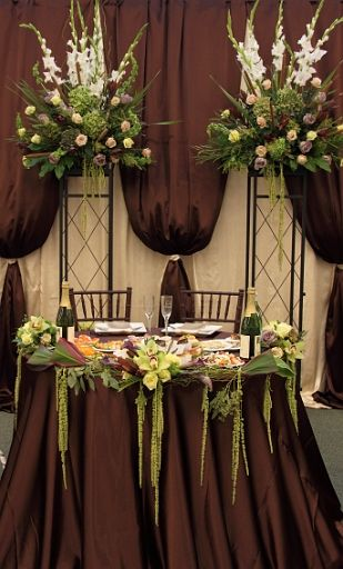 Arch sides used to hold flowers for the reception
