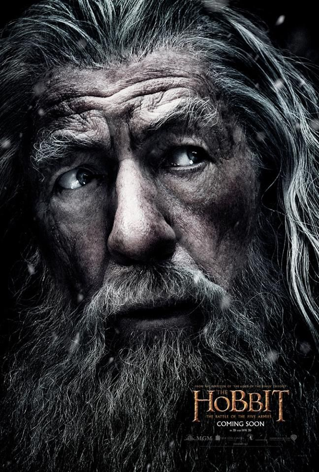 New Poster of Gandalf for 'The Hobbit: The Battle of the Five Armies' — Middle-earth News