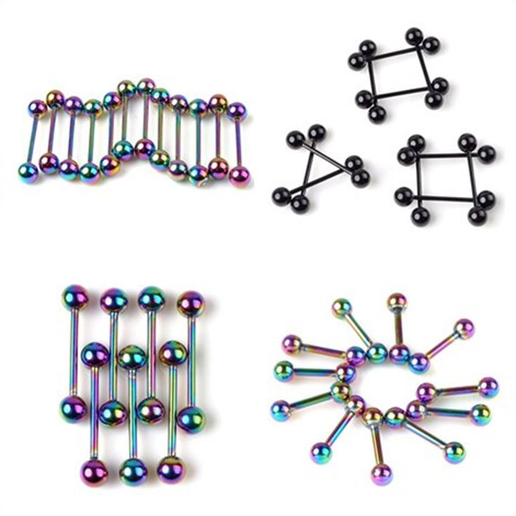 Hot Selling !!2Pcs Stainless Steel Earring Barbell Ear Piercing stud tragus Ear Piercing Black Silver Gold Cartilage Ring