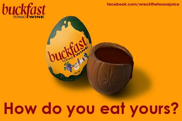 Get hammered this Easter.   Buckfast Tonic Wine.   How Do You Eat Yours?