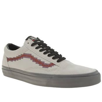 Vans Light Grey Old Skool Nintendo Console Mens Like the idea of the Vans X Nintendo collaboration but not sure if prints are your thing? Not to worry, the classic Old Skool profile has been updated with a red mauve pixelated Sidestripe and NES lac http://www.MightGet.com/january-2017-13/vans-light-grey-old-skool-nintendo-console-mens.asp
