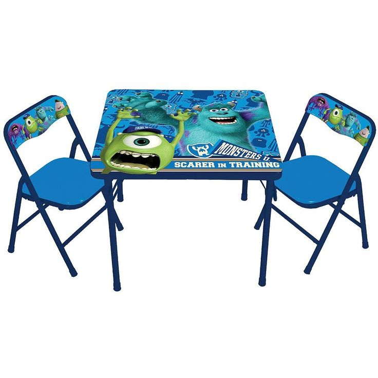Folding Kids Table : Table and Chair Set  Monster university  Pinterest  Activity Tables ...