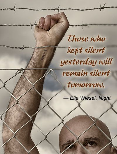 Elie Wiesel quote from night on silence