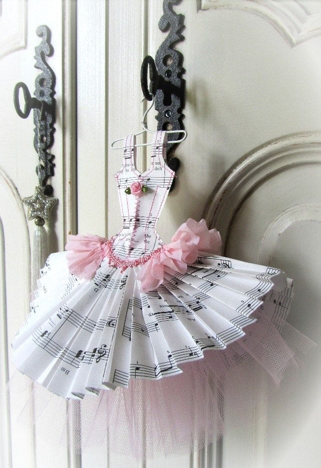 Papier Boudoir Boutique - Music Box Dancer with tulle from Etsy. This seller makes the most delightfully charming things <3