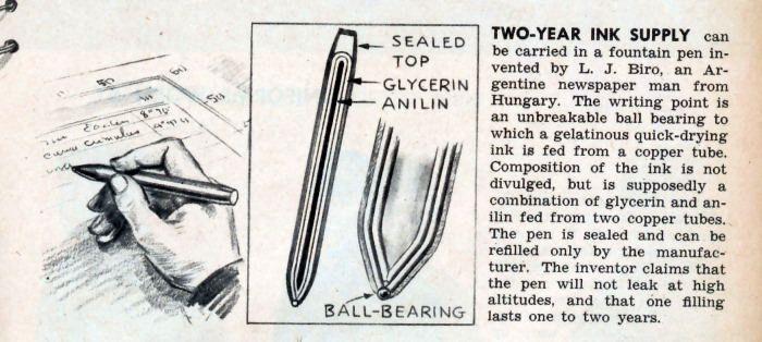 Кто и когда изобрел шариковую ручку?