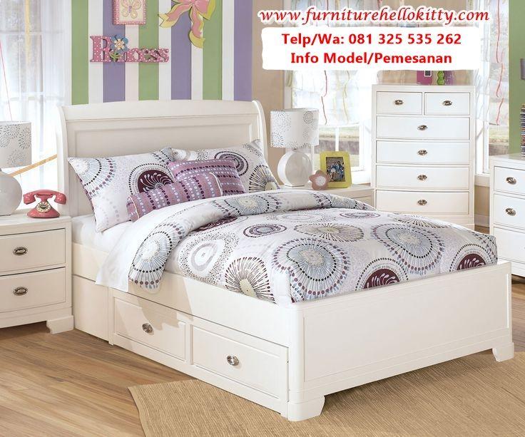 Desain Set Tempat Tidur Anak Duco Putih Referensi Kamar Tidur