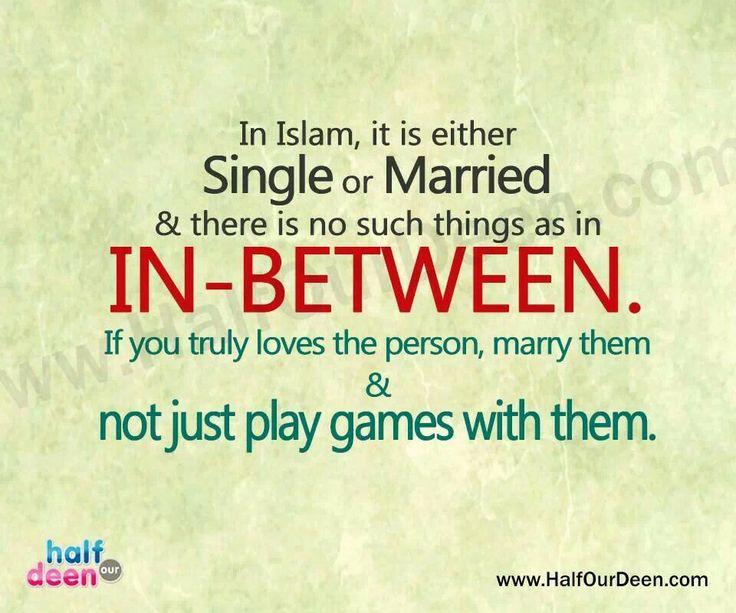 Single or married, no in between ...
