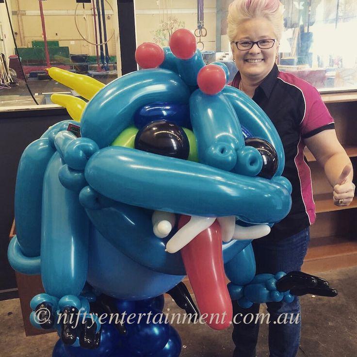 Skylander Wrecking Ball character balloon .. Twisted balloon art. Nifty Entertainment