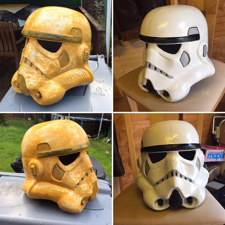 3D printed storm trooper helmet made by my husband.