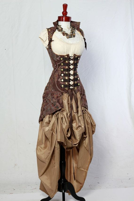 Steampunk outfit.