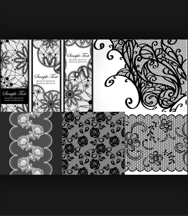 Lace tattoo idea- top right corner.