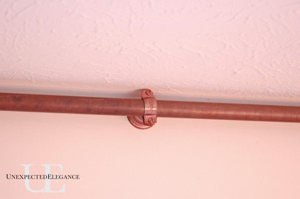 DIY copper curtain rod for my French doors - Unexpected Elegance