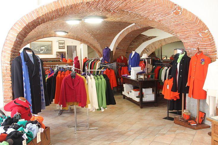 Tessilnova woolen product store in Stia, Tuscany, Italy