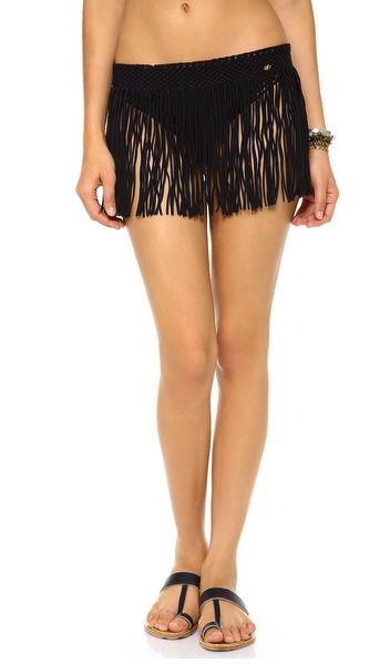 PilyQ skirt swim coverup - fringe benefits on redsoledmomma.com