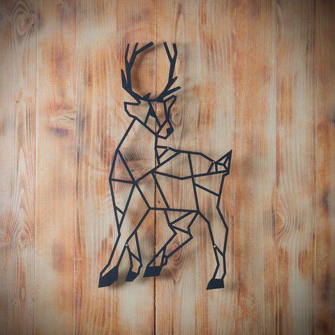 Metal Plaka - Deer ev dekorasyonu,dekorasyon fikirleri,duvar dekorasyonu,iç dekorasyon,ofis dekorasyonu,metal dekoratif ürün,geometrik hayvan figürü,geometrik geyik,geyik,tasarım,hediye,hediye fikirleri,hediyelik eşya www.hoagard.com