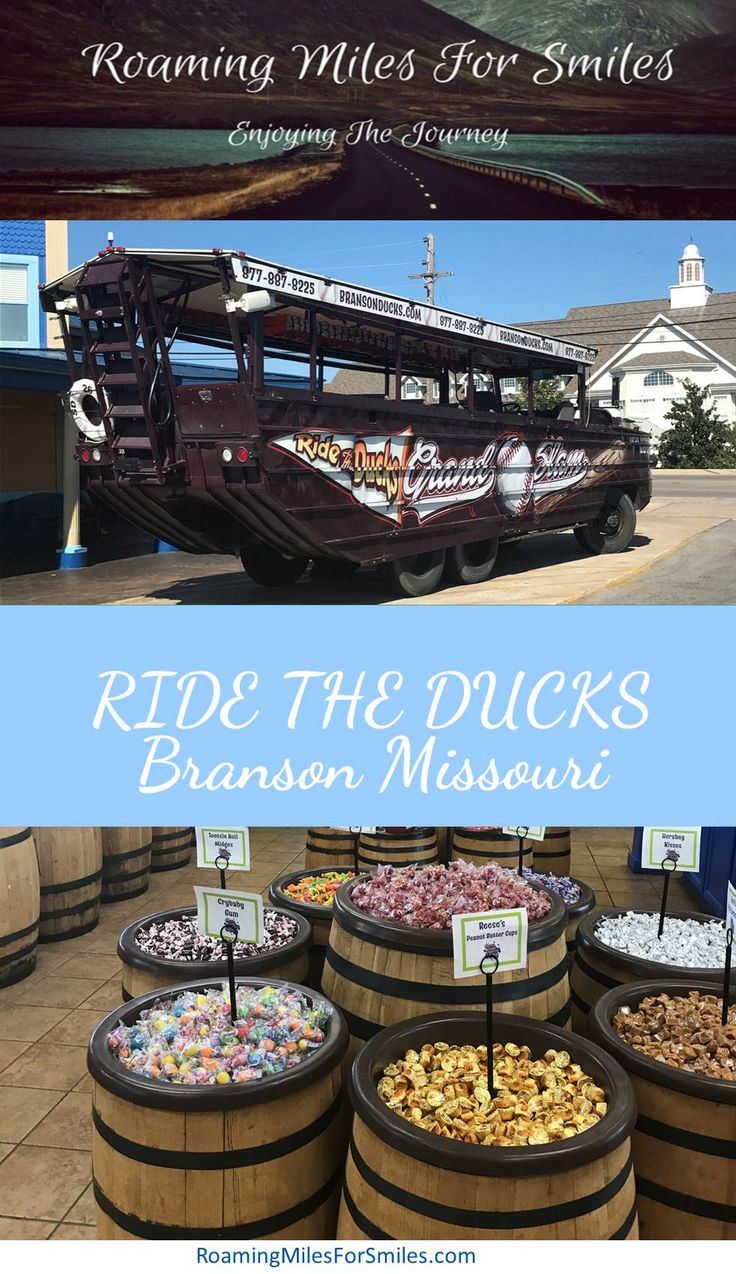 Looking for something to do in Branson, Missouri - Ride the Ducks is a way to spend an entertaining afternoon.  Great for Families, enjoyable and great way to see the sights in #branson