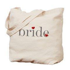 Gray Text Bride Tote Bag> Gray Text Bride> peacockcards.com