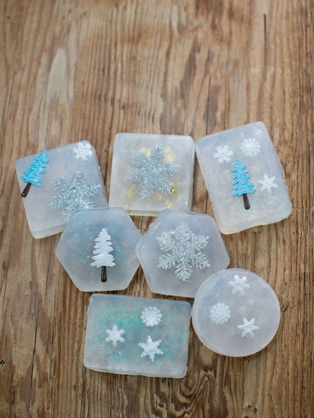 I want to make valentine's ones    EASY HANDMADE CHRISTMAS SOAPS (great DIY gifts kids can make to give)