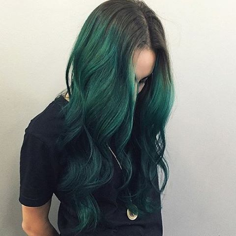 One of our favorite #stylists, @chrisweberhair, used #EnchantedForest on @teeparty for these #emerald waves.