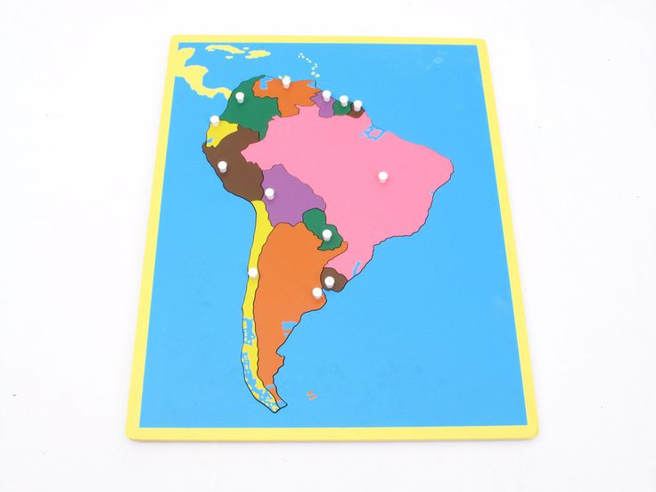 Board Map of South America