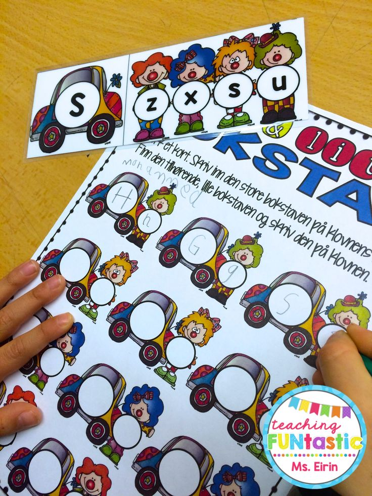 Uke 13 - PY 1: Det jobbes fremdeles med repetisjon av bokstavforming og stor/liten bokstav - denne uken ved hjelp av vårt nye sirkusspill!