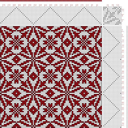 Hand Weaving Draft: Page 143, Figure 35, Donat, Franz Large Book of Textile Patterns, 14S, 14T - Handweaving.net Hand Weaving and Draft Archive