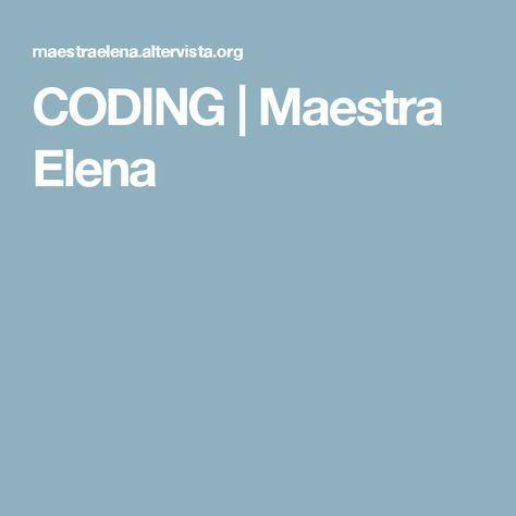 CODING | Maestra Elena