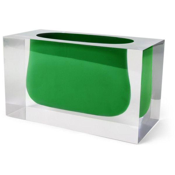 Jonathan Adler Bel Air Gorge Vase ($195) ❤ liked on Polyvore featuring home, home decor, vases, jonathan adler home decor, colored vases, jonathan adler and jonathan adler vase