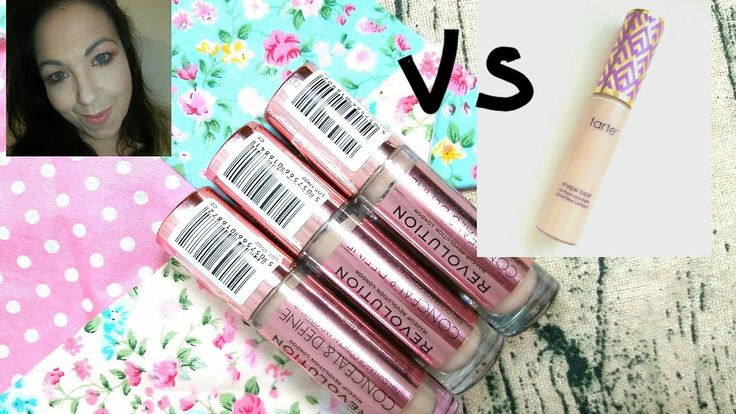 Makeup Revolution conceal & define VS Tarte Shape tape full try out and review - YouTube
