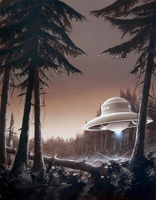UFO art by Manchu