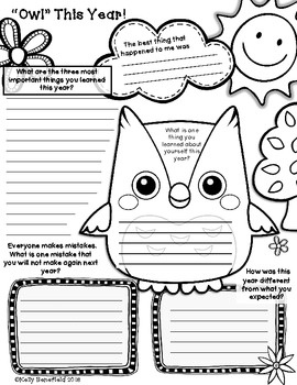 Owl About My School Year Posters and Memory Book.  A great way for students to reflect on their school year.  $