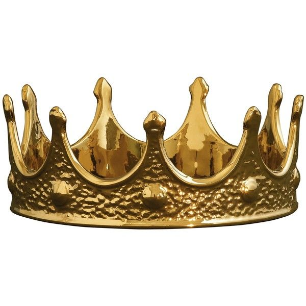Porcelain Crown In Gold 97 Liked On Polyvore Featuring