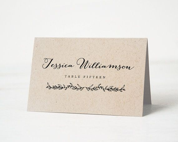 25 best ideas about Place Card Template – Word Name Card Template