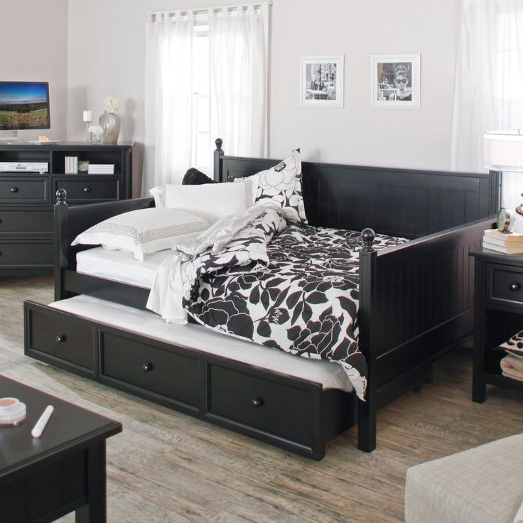 Belham Living Casey Daybed - Black - Full - Daybeds at Hayneedle